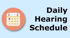 Daily Hearing Schedule